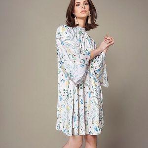 Anna Glover x H&M Floral Patterned High Neck Dress